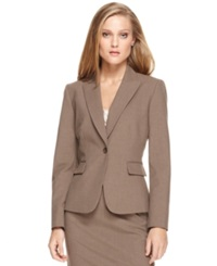 Tahari Asl Single Button Blazer Taupe