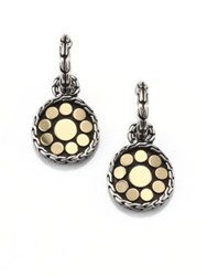 John Hardy Dot 18K Yellow Gold And Sterling Silver Drop Earrings Gold Silver