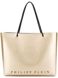 Philipp Plein Logo Shopping Tote Gold