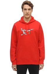 Reebok Tom And Jerry Cotton Sweatshirt Hoodie Red