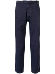 Dell'oglio Slim Fit Cropped Trousers Blue