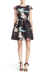 Ted Baker Women's London 'Zaldana' Print Fit And Flare Dress
