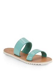 Joie A La Plage Avalon Patent Leather Double Strap Sandals Sky