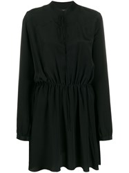 Amiri Silk Crepe Blouse Dress 60