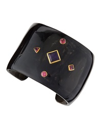 Ashley Pittman Araba Amethyst And Pink Tourmaline Cuff Bracelet