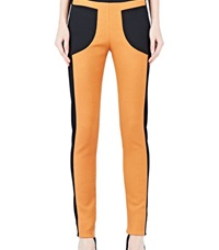 Capara Two Tone Panel Leggings 11 Orange