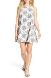 Rvca Women's 'Reve Illusorie' Floral Print Swing Dress Vintage White