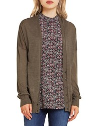 Bcbgeneration Burnout Drop Shoulder Knit Cardigan Cadet