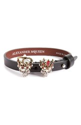 Alexander Mcqueen Women's King And Queen Skull Bracelet