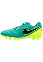 Nike Performance Tiempo Legacy Ii Agr Football Boots Clear Jade Black Volt Light Green