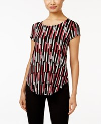 Alfani Printed T Shirt Only At Macy's Linear Splice