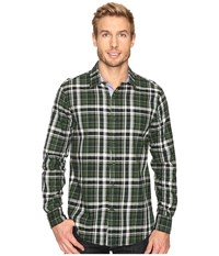 Nautica Long Sleeve Large Plaid Pacific Pine Men's Clothing Gray