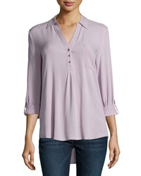 Soft Joie Trikonis Twill Challis Top Orchid