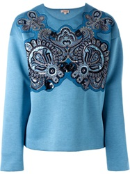 P.A.R.O.S.H. Sequinned Paisley Sweatshirt Blue