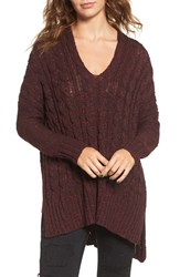 Love By Design Women's Marled Cable Knit Pullover