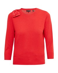 Ted Baker Callah Oversized Bow Sweater Red