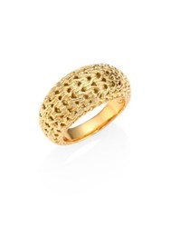 John Hardy Classic Chain 18K Yellow Gold Dome Ring