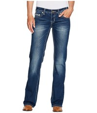 Rock And Roll Cowgirl Riding Bootcut In Dark Vintage W7 2349 Dark Vintage Women's Jeans Navy