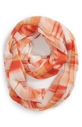 Women's Nordstrom 'Painterly Camo' Infinity Scarf Coral Coral Combo
