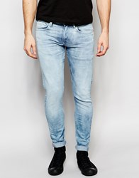 Pepe Jeans Finsbury Stretch Skinny Fit Indigo Legend Bleach Attack Bleach Attack
