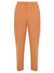 Burberry Tumbled Wool Wide Leg Trousers Orange