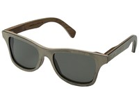 Shwood Canby Stone Collection Polarized White Slate Grey Polarized Sport Sunglasses Gray