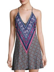 In Bloom Printed Chemise Black Burgundy