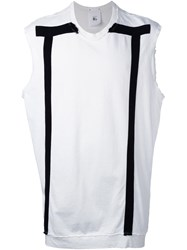 Lost And Found Ria Dunn Sleeveless Sweatshirt White