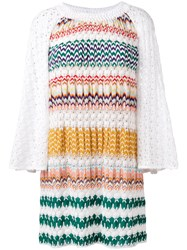 Missoni Multi Pattern Knitted Dress White