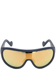Moncler Shield Mirrored Sunglasses Blue