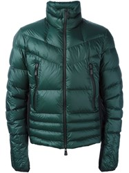Moncler Grenoble Padded Zip Up Jacket Green