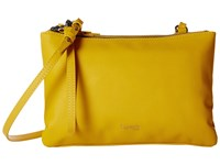 Lipault Paris Plume Elegance Leather Multi Pouch Bag Mustard Handbags Yellow