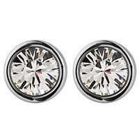 Dyrberg Kern Noble Medium Swarovski Crystal Stud Earrings Silver