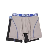 Adidas Sport Performance Climacool 2 Pack Boxer Brief Light Onix Blue Night Grey Blue Men's Underwear Light Onix Blue Night Grey Blue