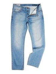 Label Lab Poker Straight Taper Leg Jean Mid Blue