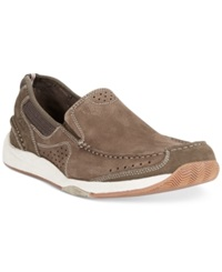 Clarks Allston Free Slip On Boat Shoes Men's Shoes Olive Nubuck