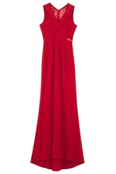 Safiyaa V Neck And Lace Inserts Gown