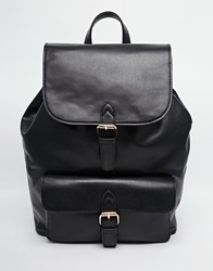 Asos Structured Pocket Backpack Black