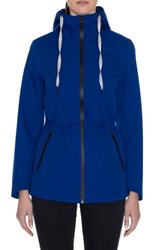Laundry By Shelli Segal Women's Hooded Active Jacket Cobalt