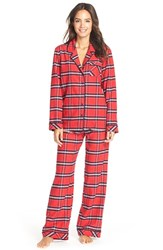 Women's Nordstrom Flannel Pajamas Red Tango Amy Plaid
