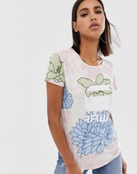 G Star Lindelly Organic Cotton T Shirt In Floral Print Multi