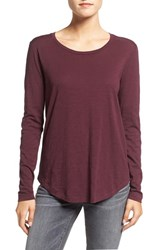 Madewell Women's Long Sleeve Slub Crewneck Tee Red Rock