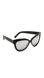 Linda Farrow Thick Rim Sunglasses Black Platinum