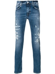 Department 5 Distressed Jeans Blue
