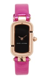 Marc Jacobs The Watch Rose Gold Black Fuschia