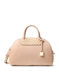 Michael Kors Studded Leather Satchel Ballet