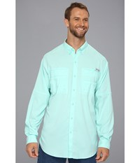 Columbia Tamiami Ii L S Tall Gulf Stream Men's Long Sleeve Button Up Blue