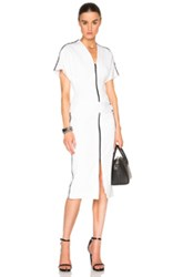 Josh Goot Drop Waist Tee Dress In White