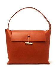 Sophie Hulme Large Pinch Leather Tote Bag Tan