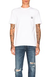 Fred Perry X Raf Simons Denim Pocket Tee White